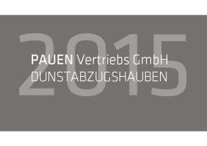 PAUEN Vertriebs GmbH DUNSTABZUGSHAUBEN