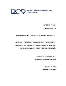 Paul C. Rizzo Associates, Inc. CONSULTANTS