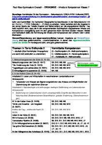 Paul-Klee-Gymnasium Overath ERDKUNDE Inhalte & Kompetenzen Klasse 7