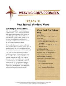 Paul Spreads the Good News