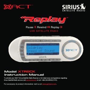 Pause Rewind Replay LIVE SATELLITE RADIO