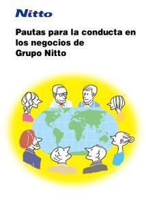 Pautas para la conducta en los negocios de Grupo Nitto