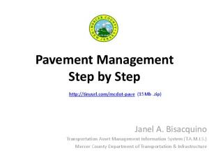 Pavement Management Step by Step