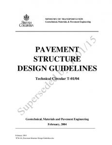 PAVEMENT STRUCTURE DESIGN GUIDELINES