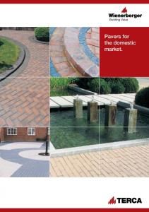 Pavers for the domestic market