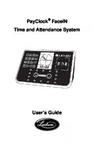 PayClock FaceIN Time and Attendance System