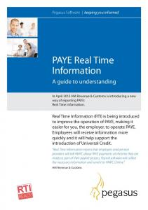 PAYE Real Time Information