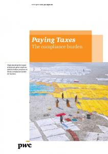 Paying Taxes The compliance burden