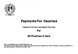 Payments For Vaccines