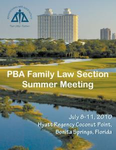 PBA Family Law Section Summer Meeting