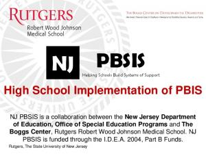 PBSIS Helping Schools Build Systems of Support