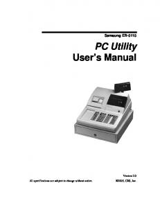 PC Utility User s Manual