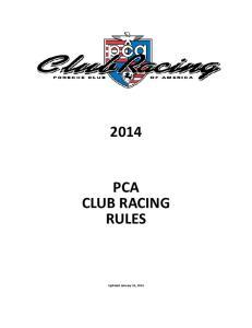 PCA CLUB RACING RULES