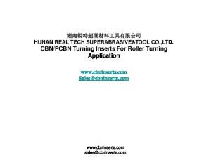 PCBN Turning Inserts For Roller Turning Application