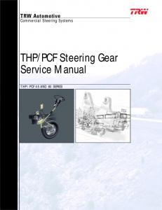 PCF Steering Gear Service Manual
