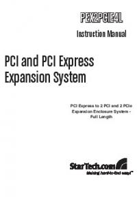 PCI and PCI Express Expansion System