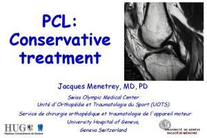 PCL: Conservative treatment