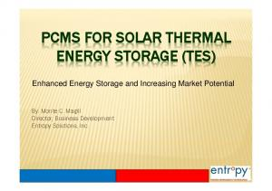 PCMS FOR SOLAR THERMAL ENERGY STORAGE (TES)