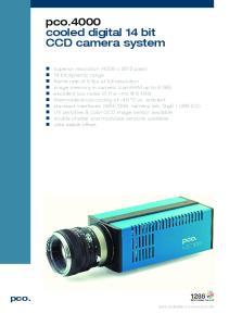 pco.4000 cooled digital 14 bit CCD camera system