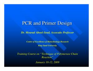 PCR and Primer Design