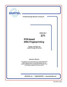 PCR-based DNA Fingerprinting
