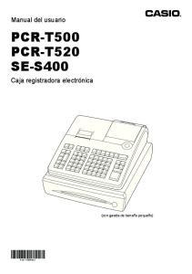 PCR-T500 PCR-T520 SE-S400