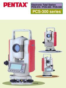 PCS-335. PCS-300 series PCS-335 PCS-315 PCS-325
