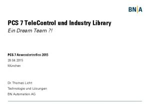 PCS 7 TeleControl und Industry Library