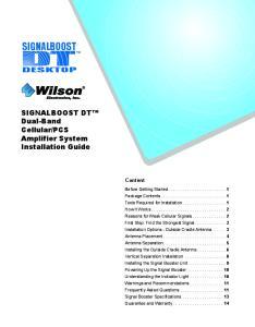 PCS Amplifier System Installation Guide DESKTOP. Content