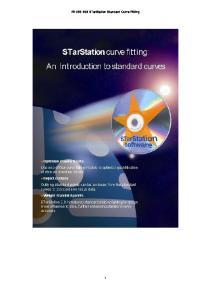 PD STarStation Standard Curve Fitting