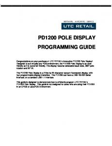 PD1200 POLE DISPLAY PROGRAMMING GUIDE