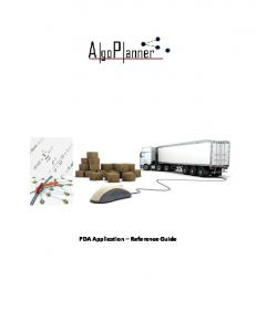 PDA Application Reference Guide