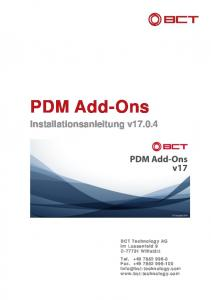 PDM Add-Ons Installationsanleitung v17.0.4