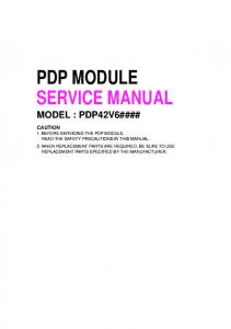 PDP MODULE SERVICE MANUAL