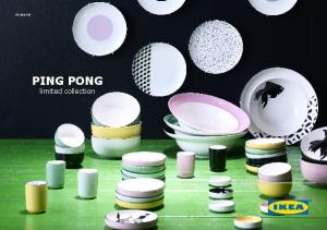 PE Inter IKEA Systems B.V PING PONG limited collection