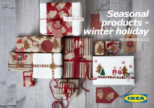 PE Seasonal products - winter holiday