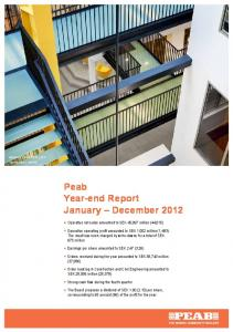 Peab Year-end Report January December 2012