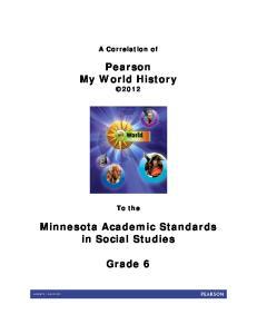 Pearson My World History 2012