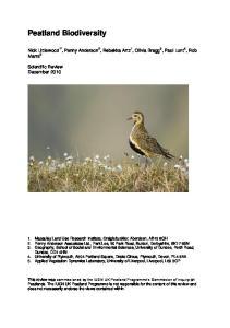 Peatland Biodiversity