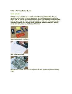 Pebble Tile Installation Guide