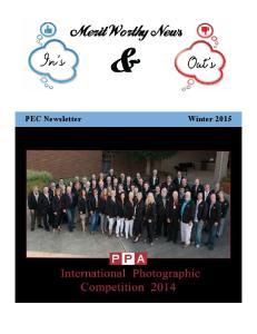 PEC Newsletter Winter 2015