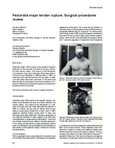 Pectoralis major tendon rupture. Surgical procedures review
