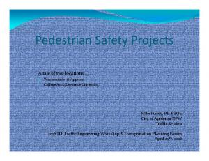 Pedestrian Safety Projects