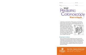 Pediatric Colonoscopy