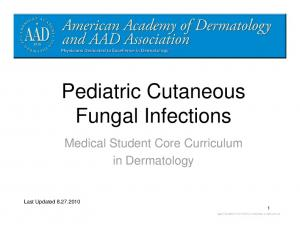 Pediatric Cutaneous Fungal Infections
