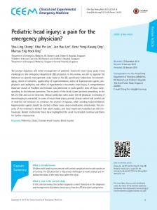 Pediatric head injury: a pain for the emergency physician?