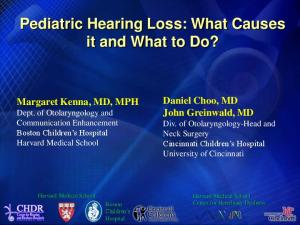 Pediatric Hearing Loss: What Causes it and What to Do?