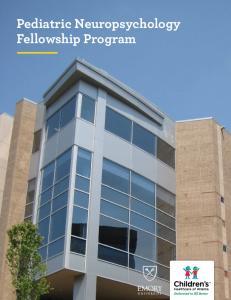 Pediatric Neuropsychology Fellowship Program
