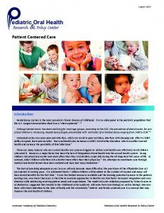 Pediatric Oral Health Research & Policy Center