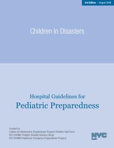 Pediatric Preparedness